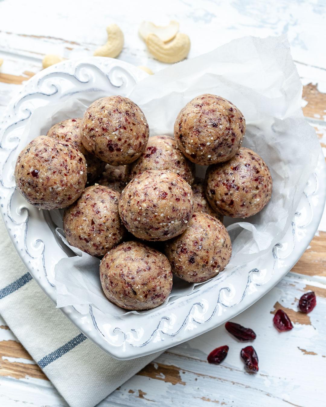 Cranberry Protein Balls Recipe