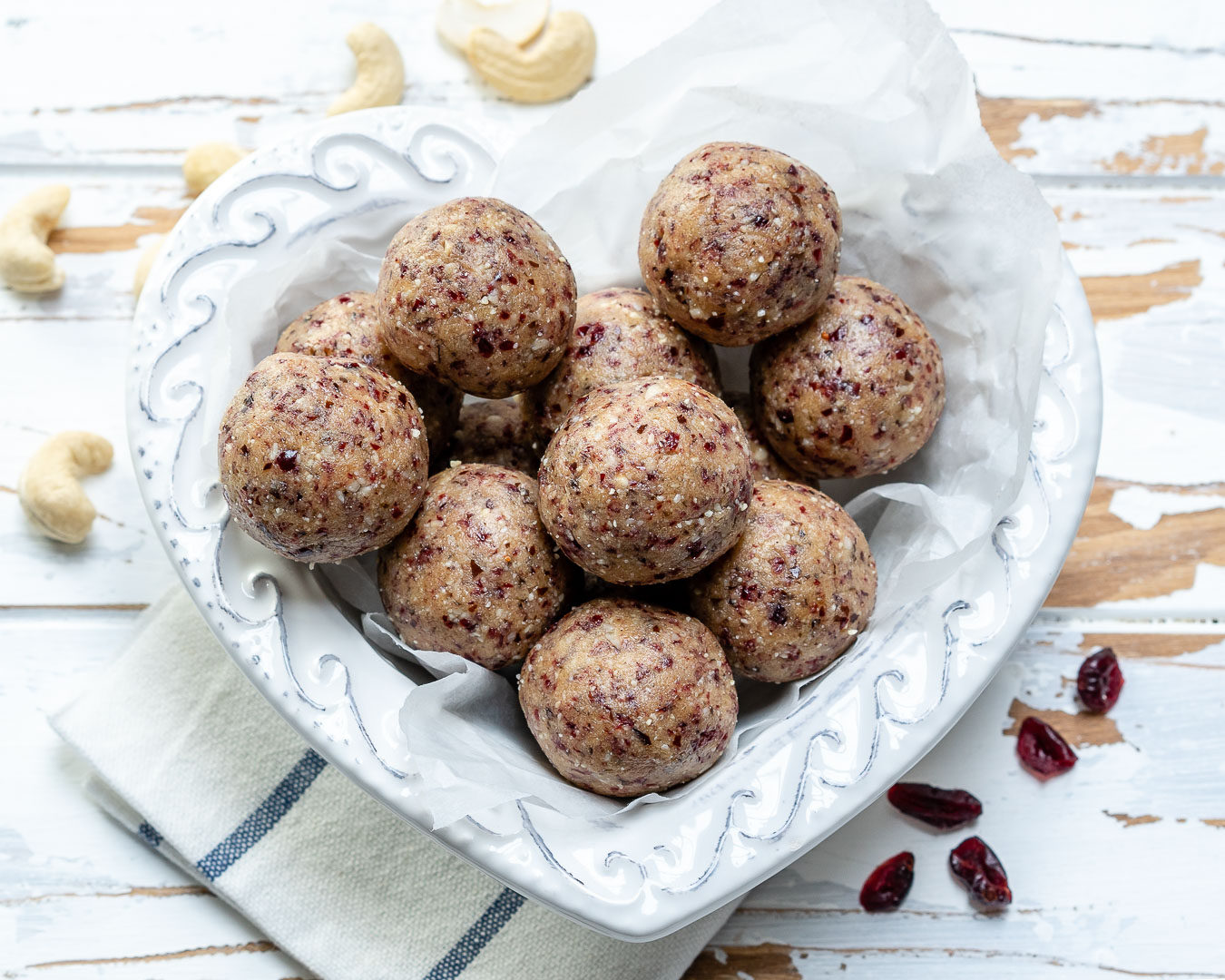 Clean Eating Cranberry Protein Balls