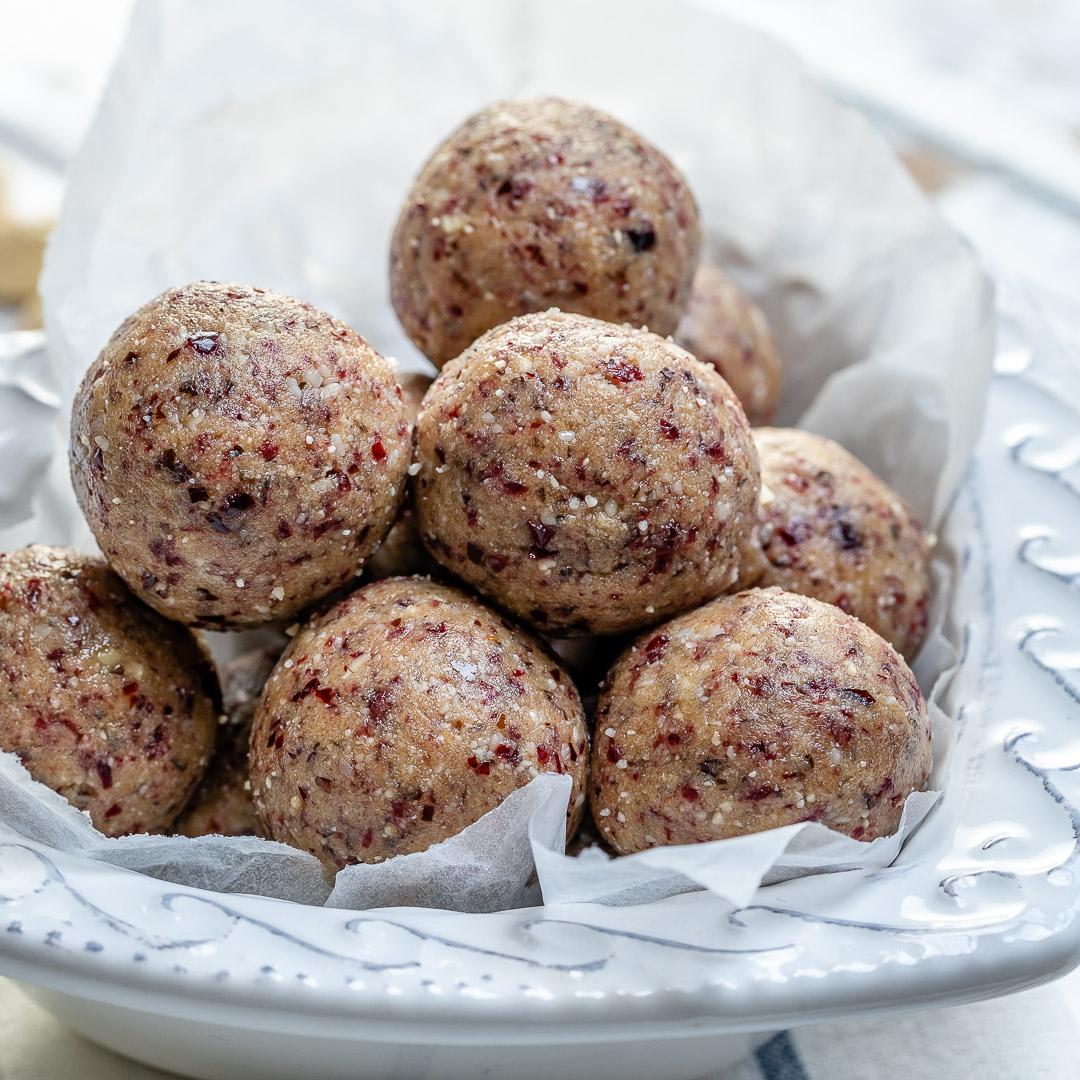 Cranberry Protein Balls by Rachel Maser
