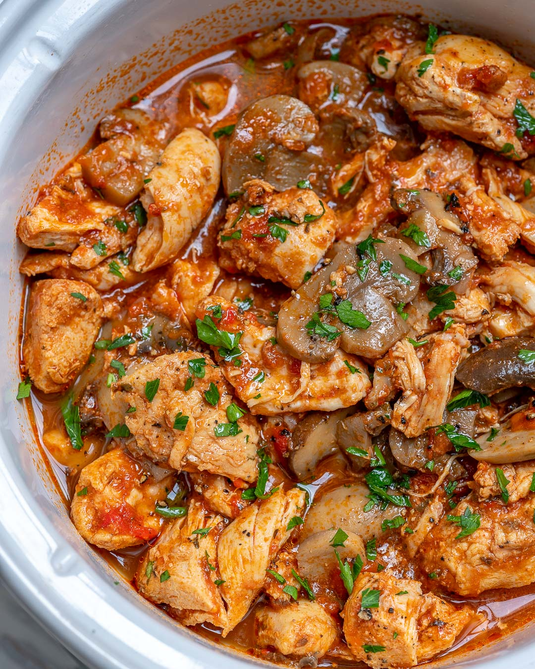 Crockpot Chicken with Mushrooms by CleanFoodCrush Recipes