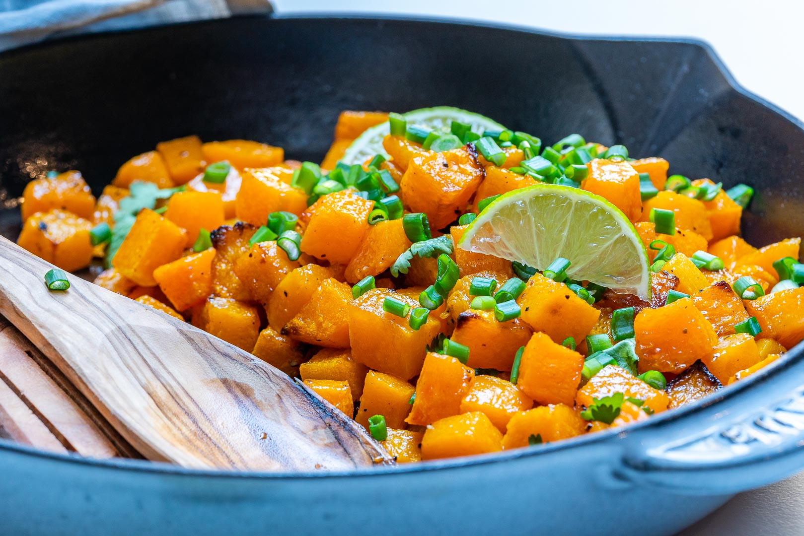 Easy Butternut Squash Skillet by CleanFoodCrush
