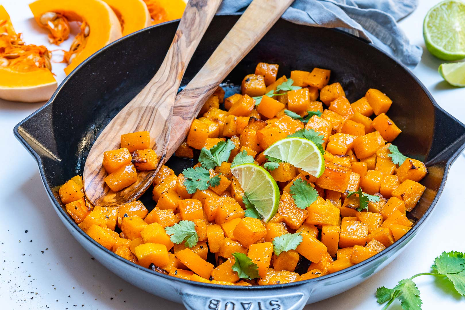 Fast Easy Butternut Squash Skillet Meal