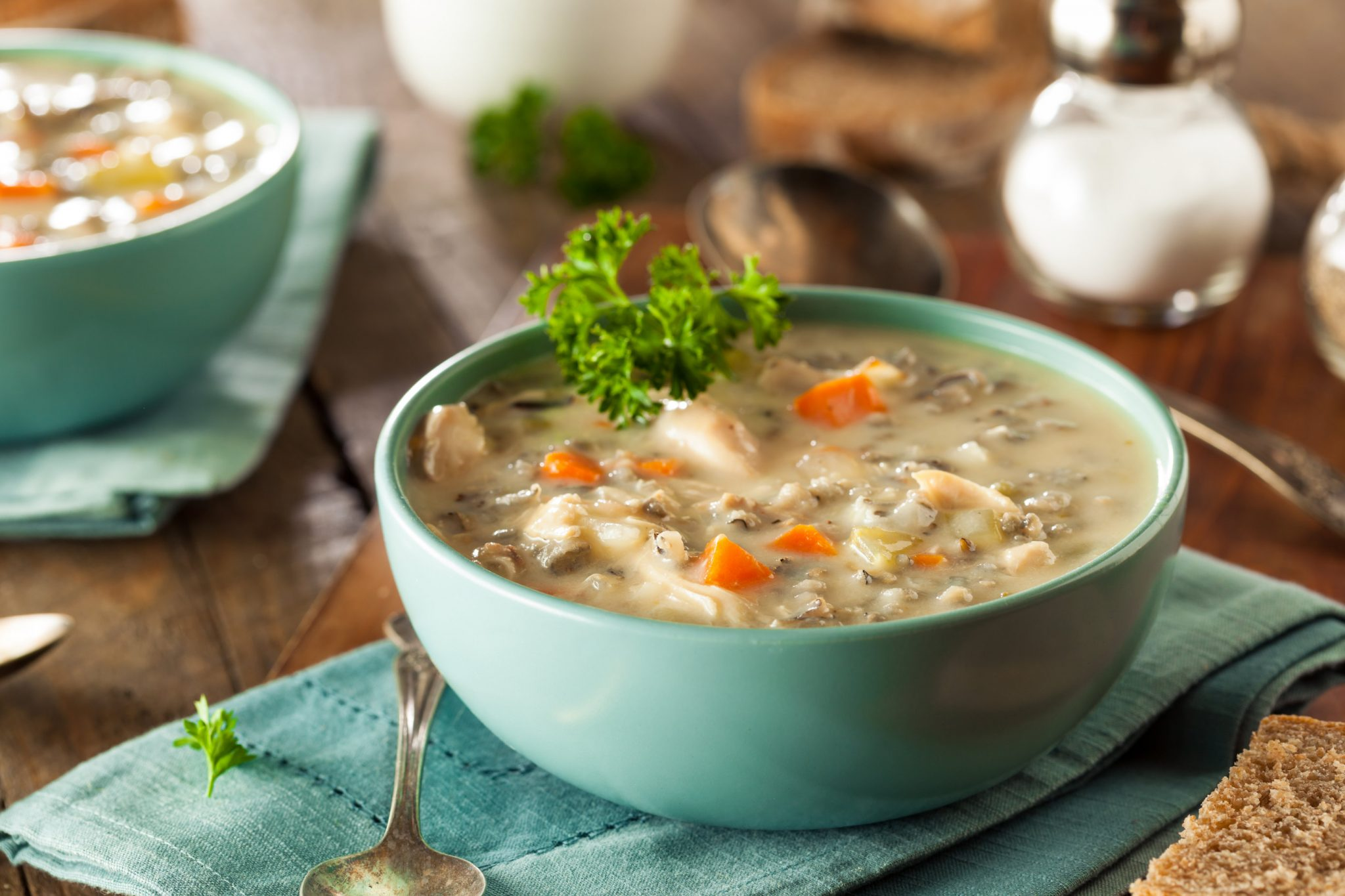 Eats Clean Creamy Turkey Wild Rice Soup
