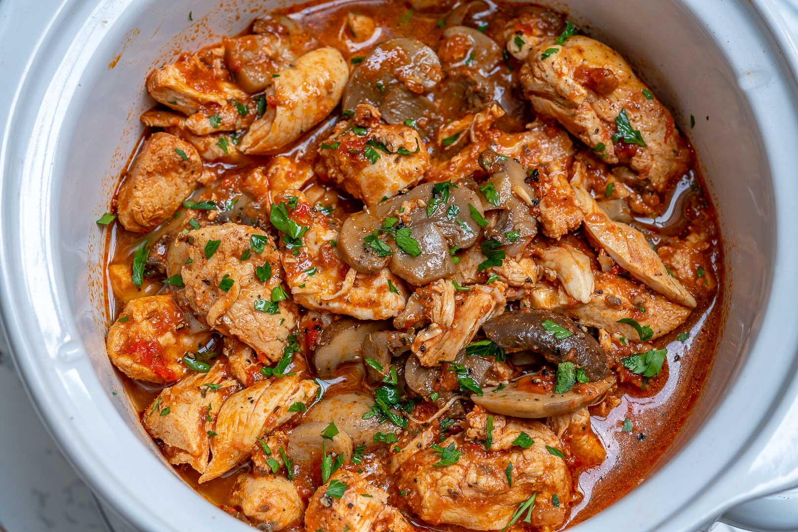 Healthy Crockpot Chicken Mushrooms Clean Eating