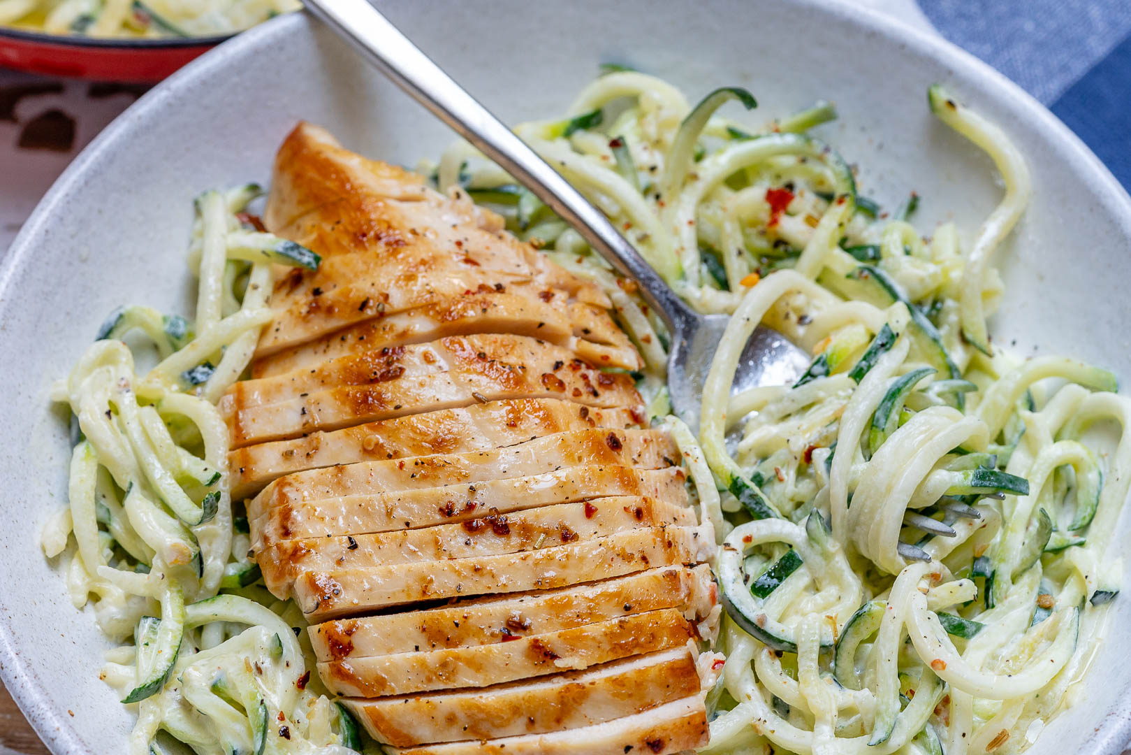Chicken Alfredo Zoodles Fast Clean Recipe