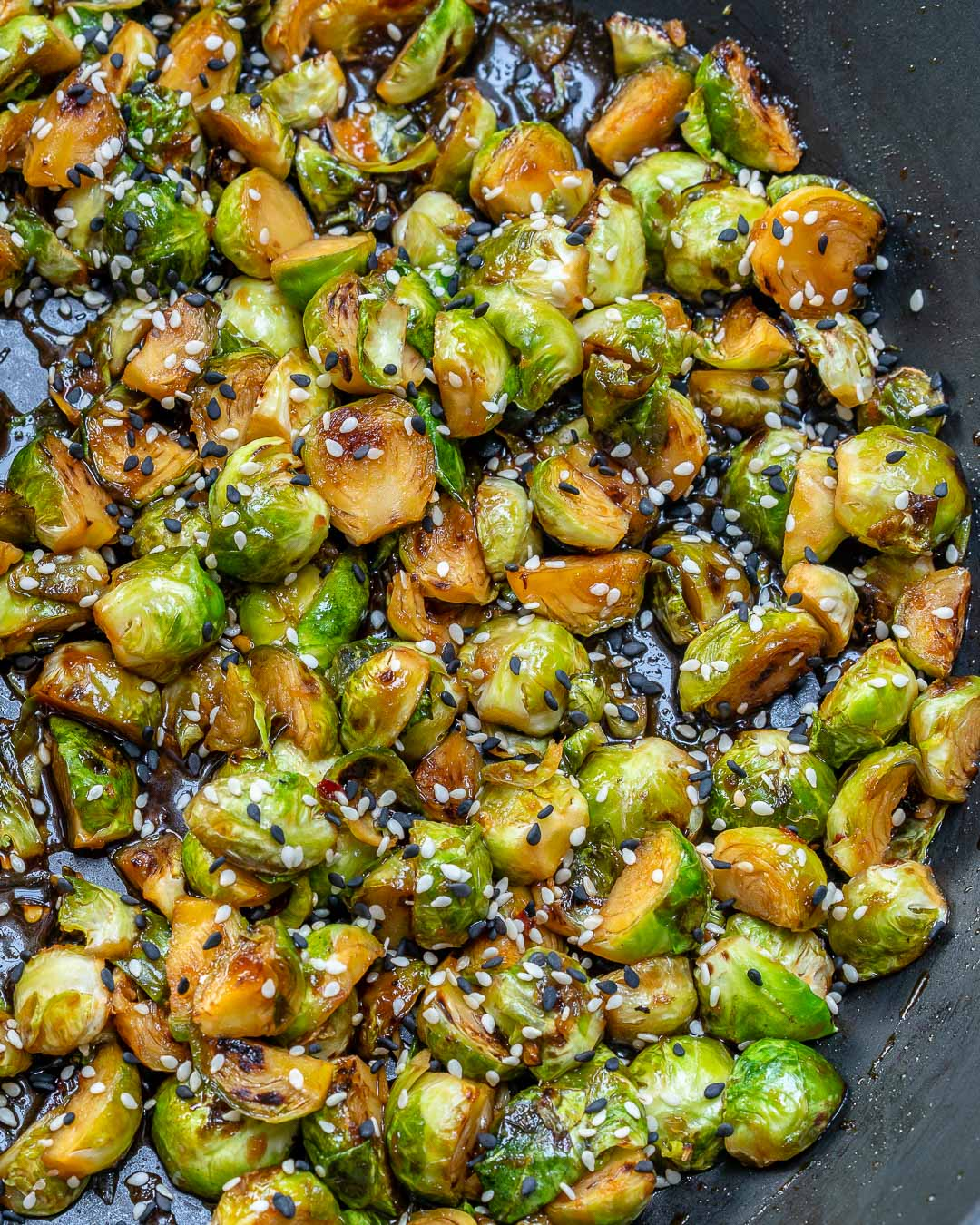 Stir Fried Brussels Sprouts Side Dish