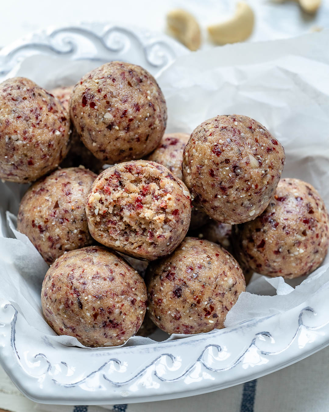 Energy Boosting Cranberry Protein Balls