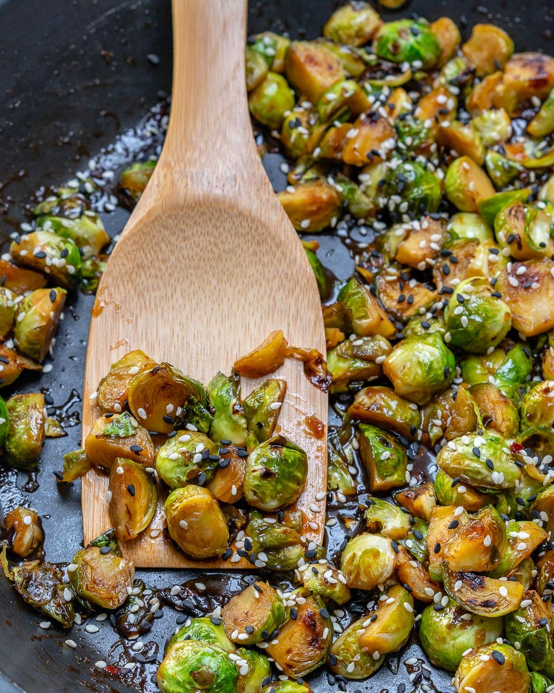 Healthy Stir fried Brussels Sprouts
