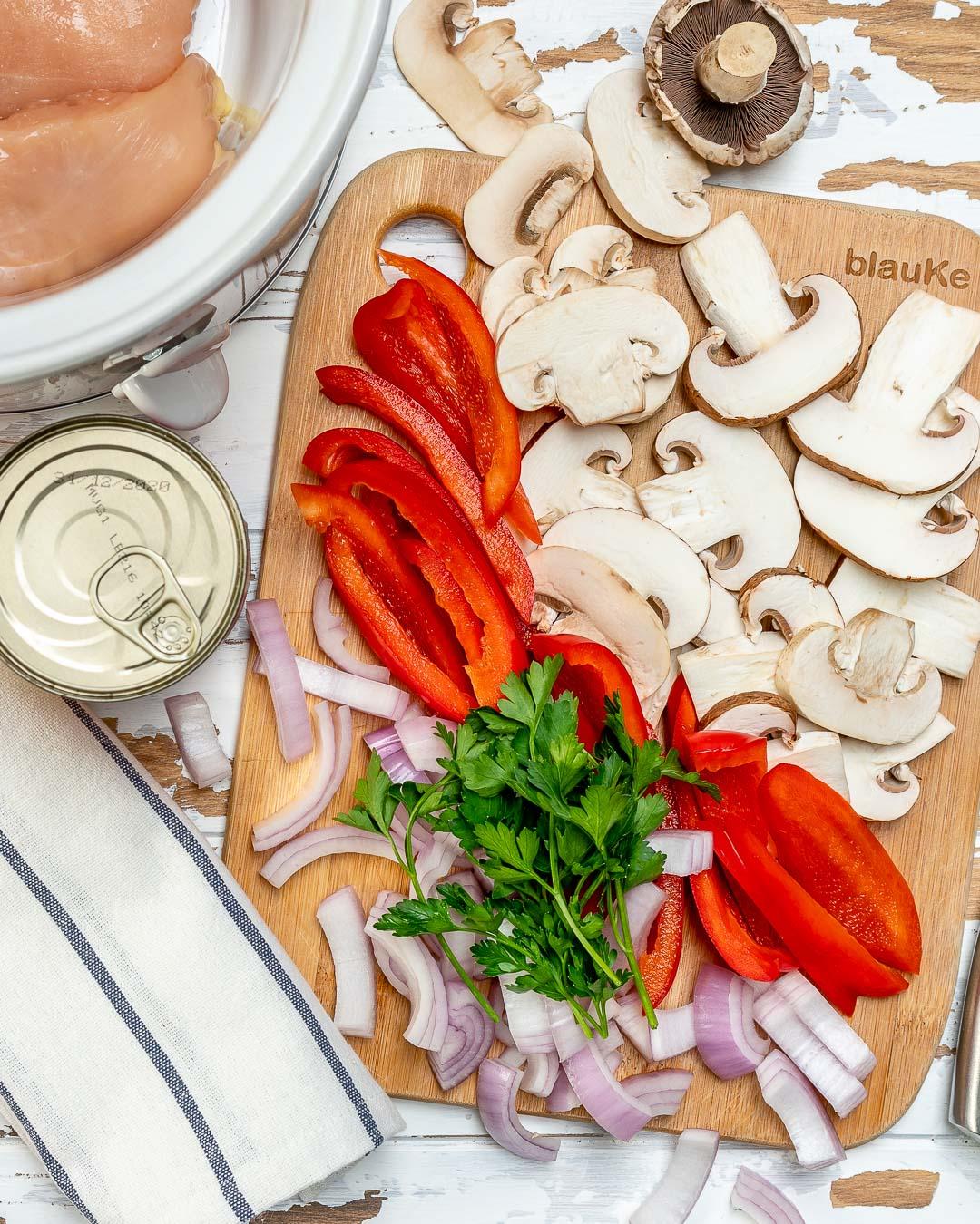 Crockpot Chicken Mushrooms Ingredients