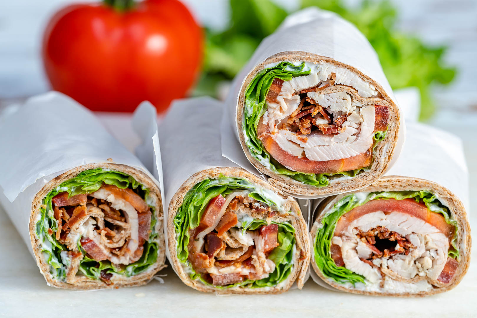 Clean Eating Leftover Tangy Turkey Ranch Rolls