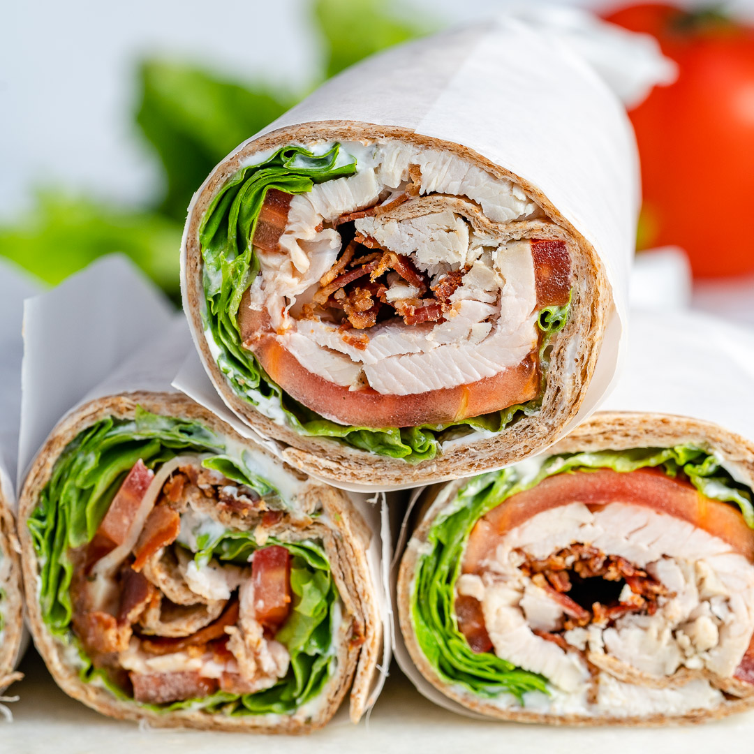 Thanksgiving Leftover Turkey Ranch Club Wraps Dish