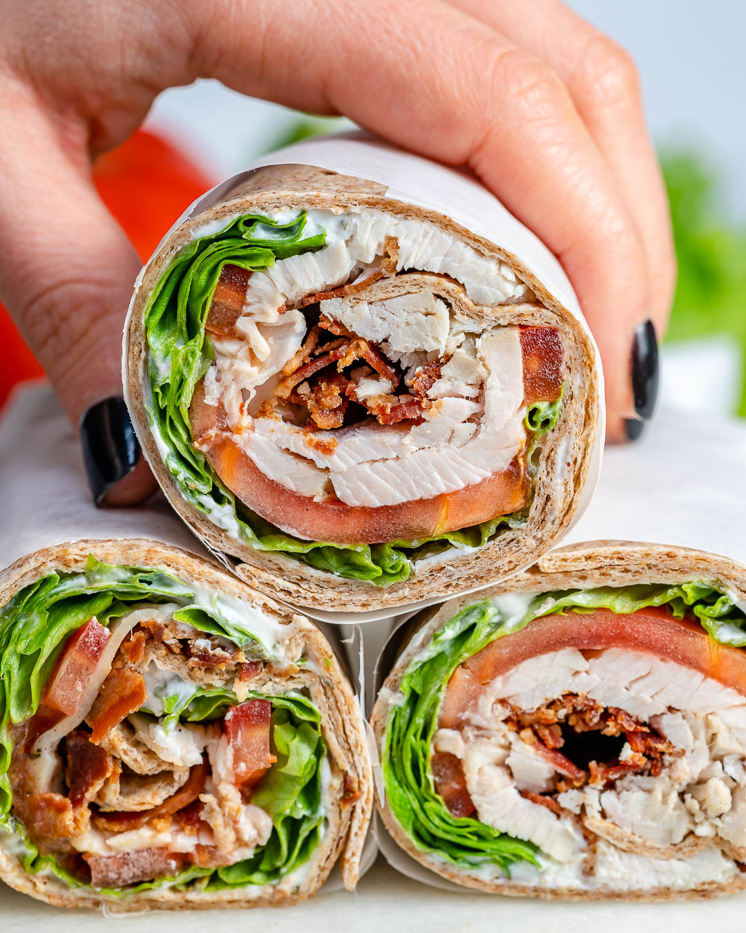 Healthy Leftover Tangy Turkey Ranch Rolls Recipe