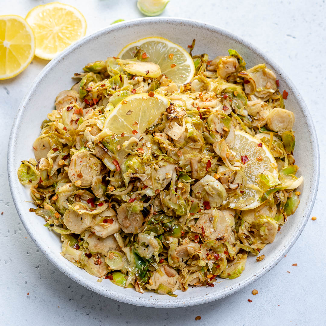 Lemony Shredded Brussels Sprouts Side Dish