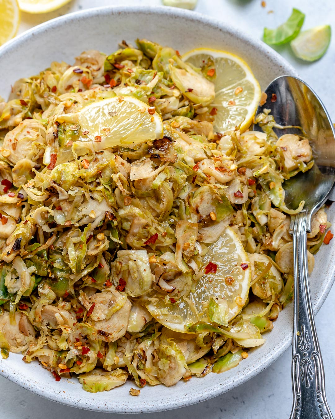 Lemony Shredded Brussels Sprouts side Dish by Rachel Maser