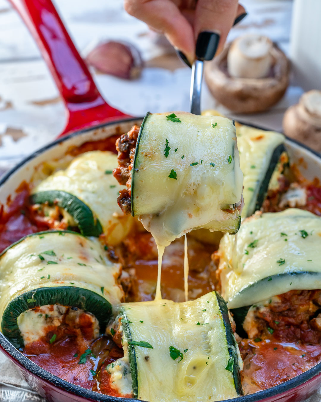 Zucchini Lasagna Rolls Clean Eating Dinner