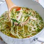 Nourishing Chicken Zoodle Soup by Rachel Maser