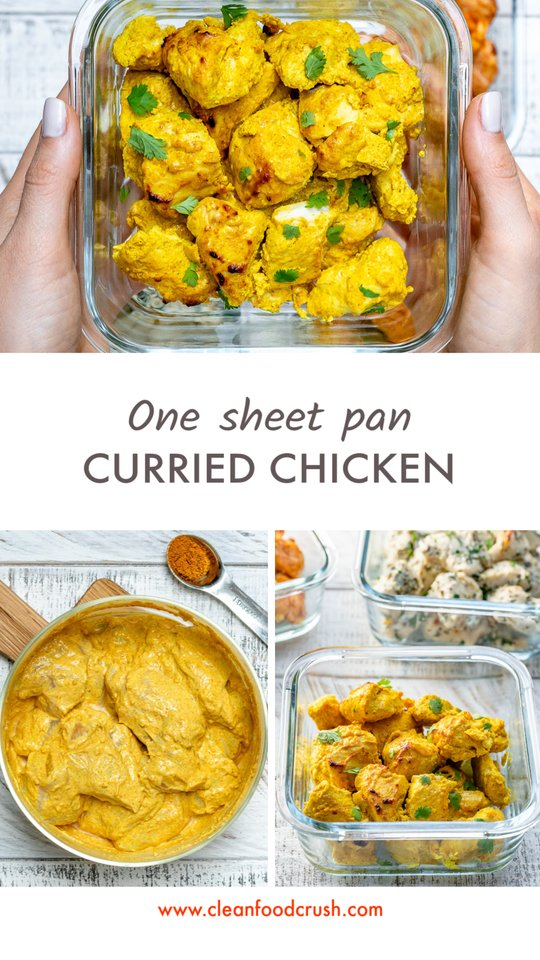 One Sheet Pan Curried Chicken