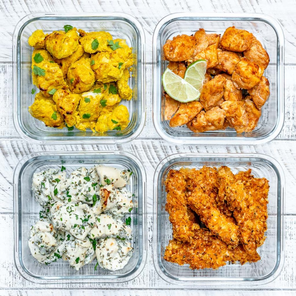 One Sheet Pan Meal Prep Chicken - 4 AWESOME Ways