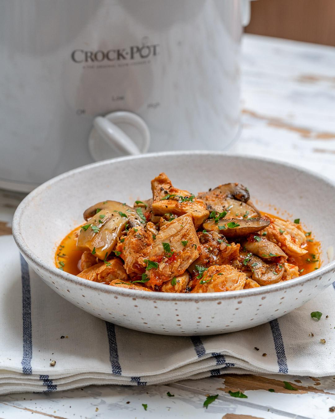 Crockpot Chicken Mushrooms Healthy Dinner Ideas