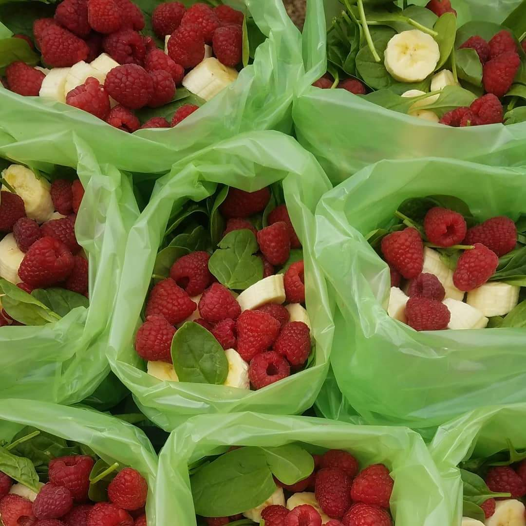 Rachel Masers Red Berry Green Smoothie Prep Packs