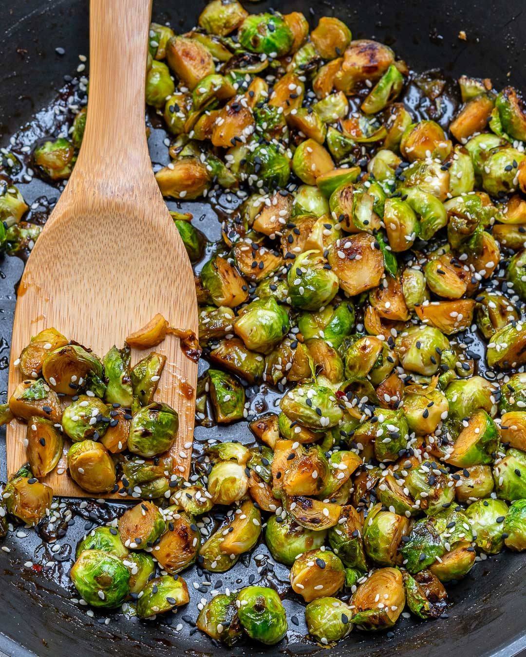 Stir-fried Brussels Sprouts Clean Food Recipe