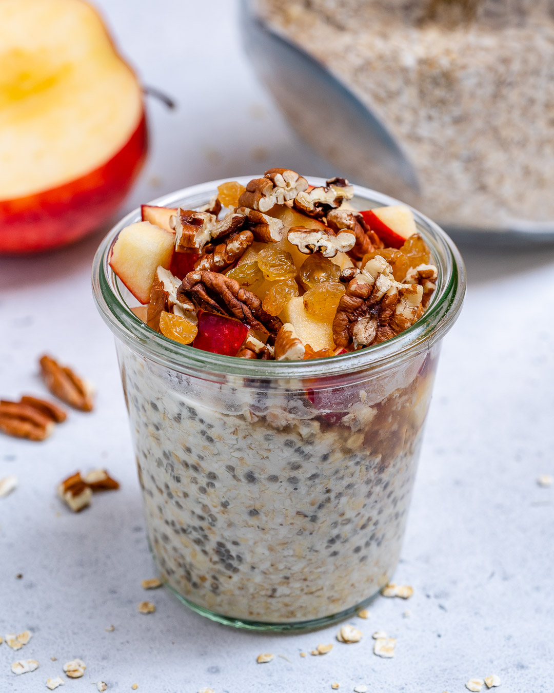 Clean Eating Apple Pie Oats