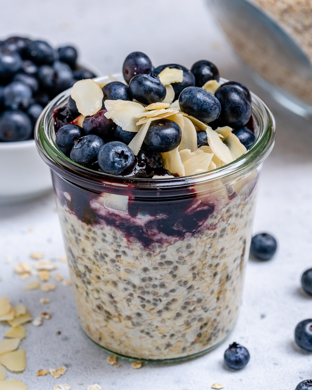 Blueberry Pie Oats Clean Eating Breakfast