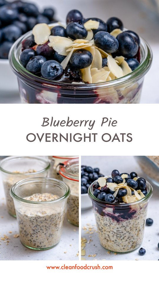 Blueberry Pie Overnight Oats Ingredients