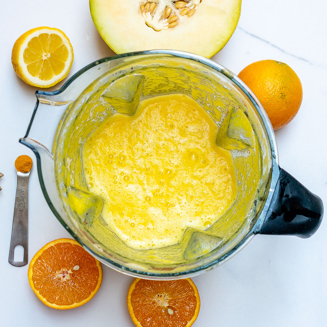 Cantaloupe Orange Ginger Turmeric Juice