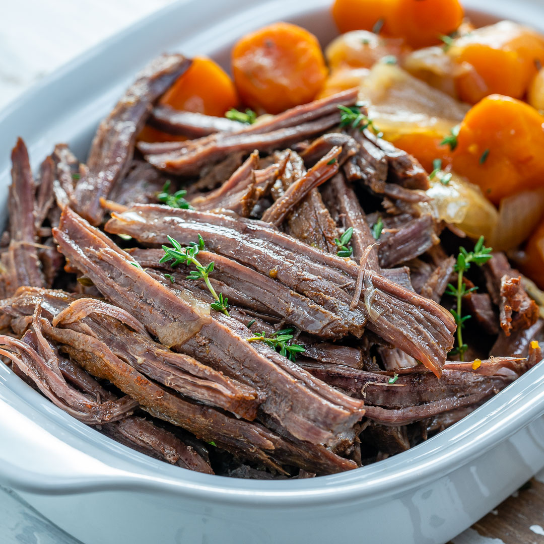 Clean Eats Slow Cooker Roast Beef