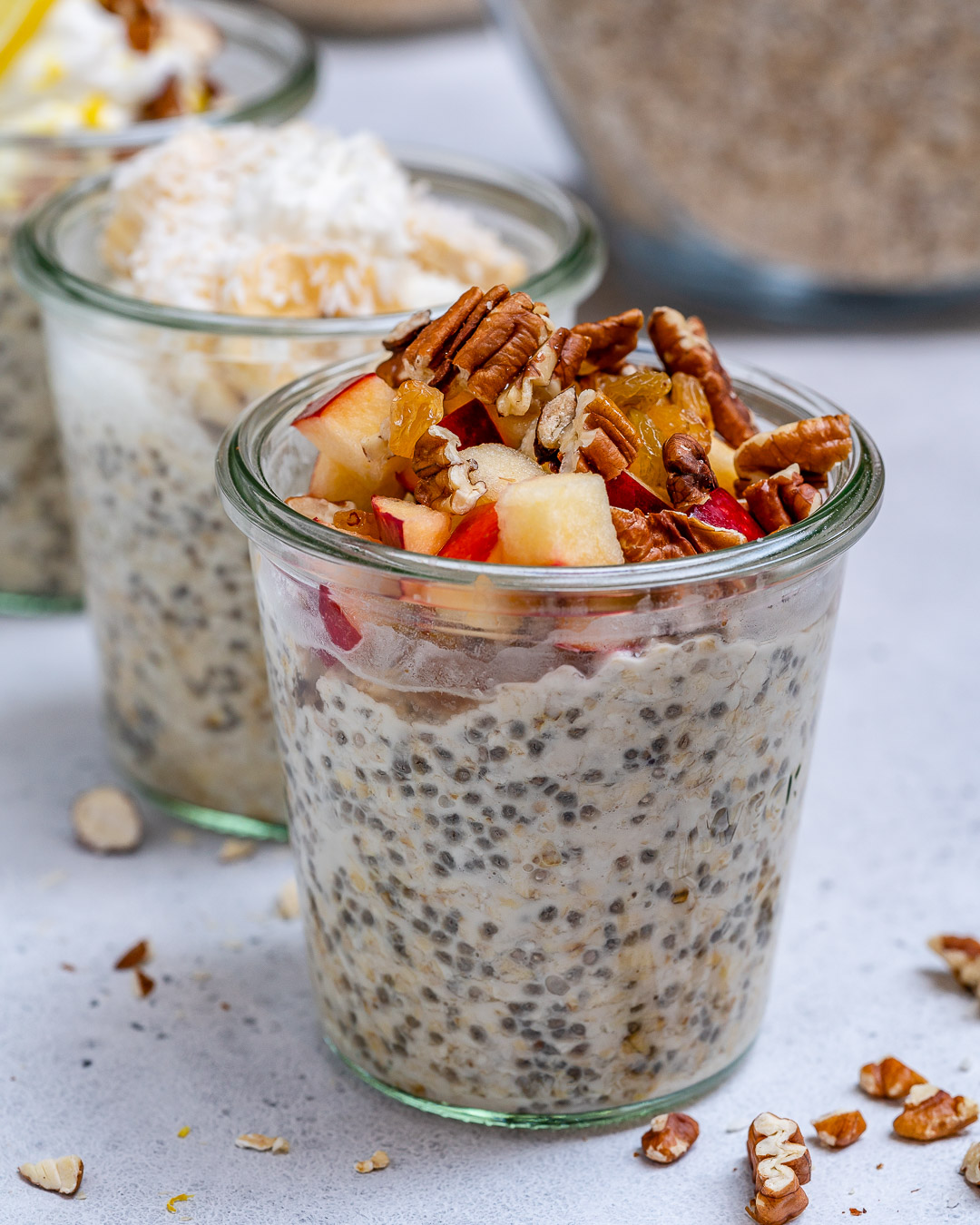 Apple Pie Oats for Healthy Breakfast