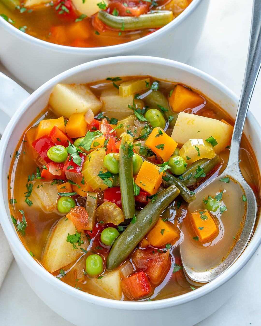 Nourishing Homemade Veggie Soup For Cleansing Lowering