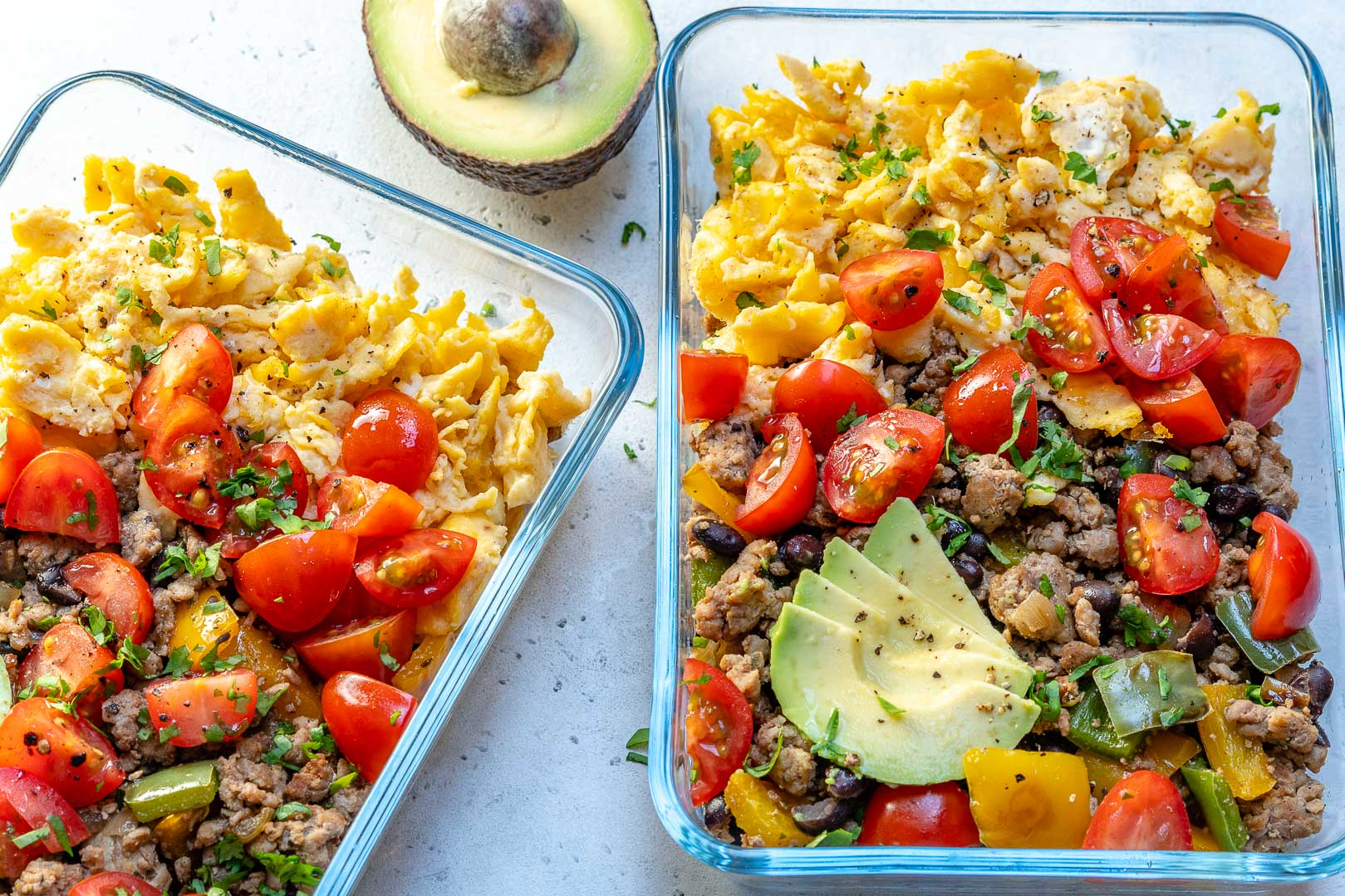Breakfast Scramble Meal Prep Bowls