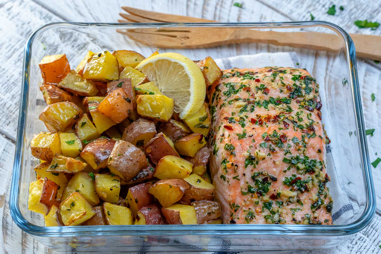 Garlic Butter Salmon by CleanFoodCrush