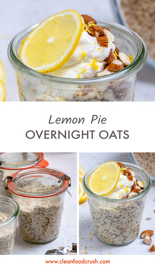 Lemon Pie Overnight Oats Ingredients