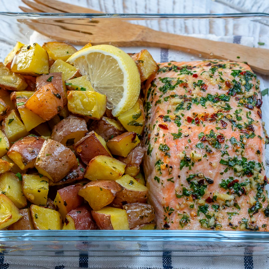 Meal Prep Garlic Butter Salmon CleanFoodCrush