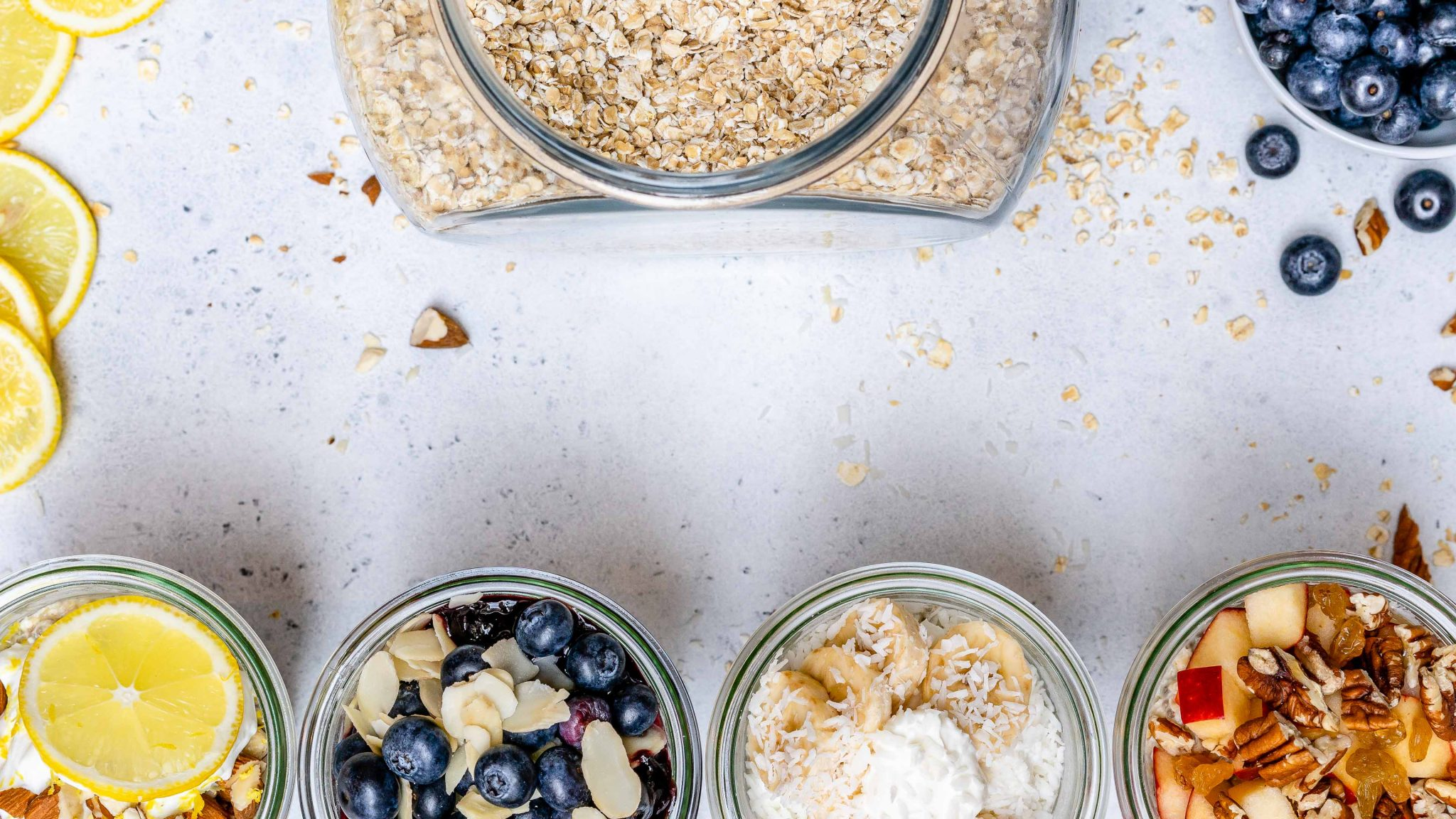 Overnight Oats 4 Ways Clean Eating