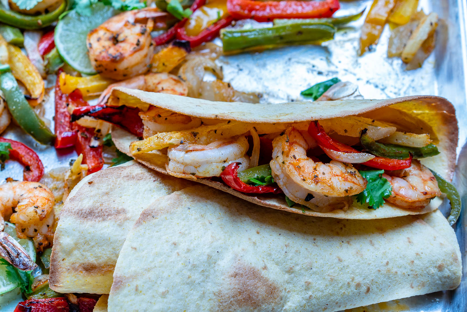 Rachel Masers Pineapple Shrimp Fajitas