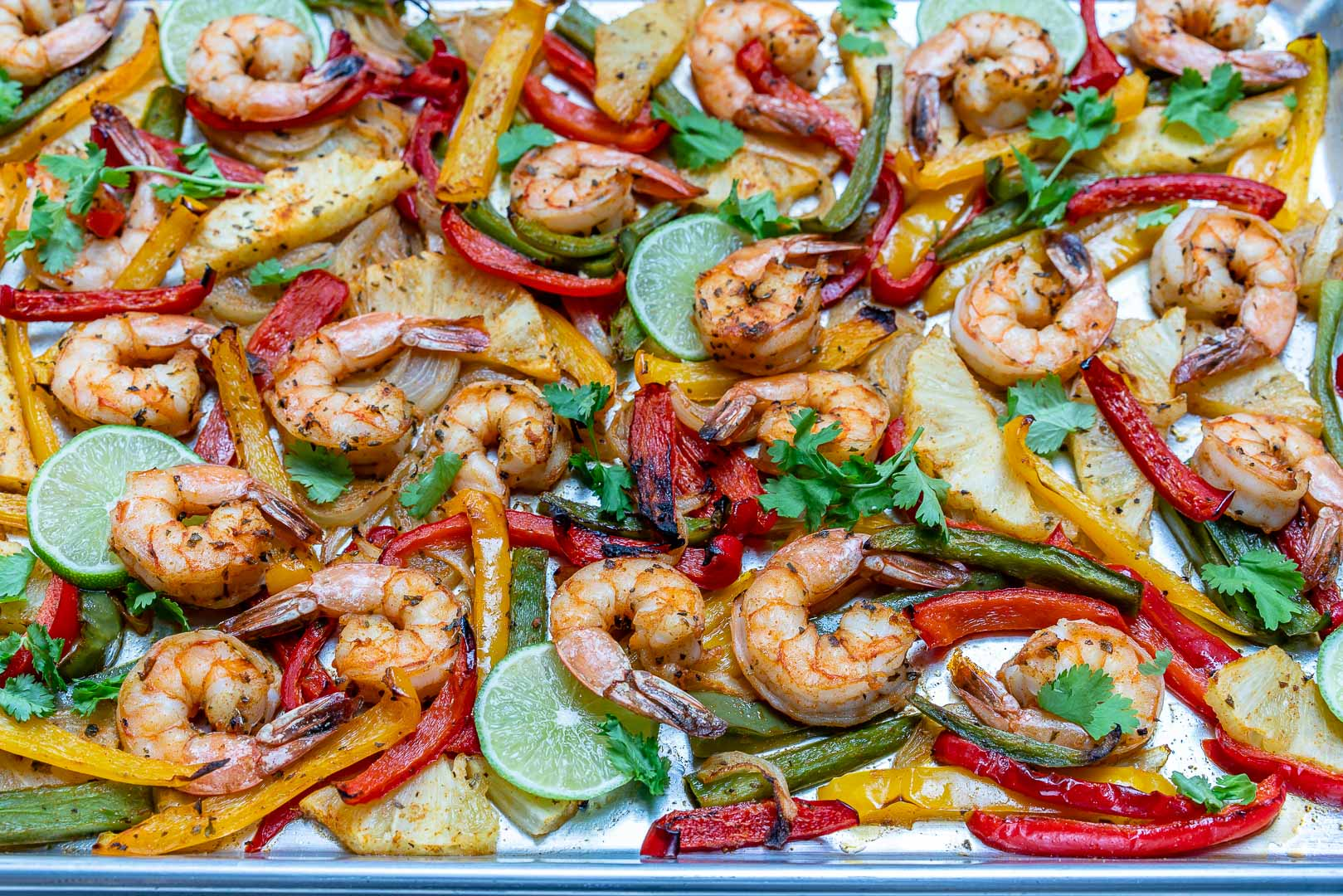 Sheet Pan Shrimp Pineapple Fajitas Clean Eating Recipes
