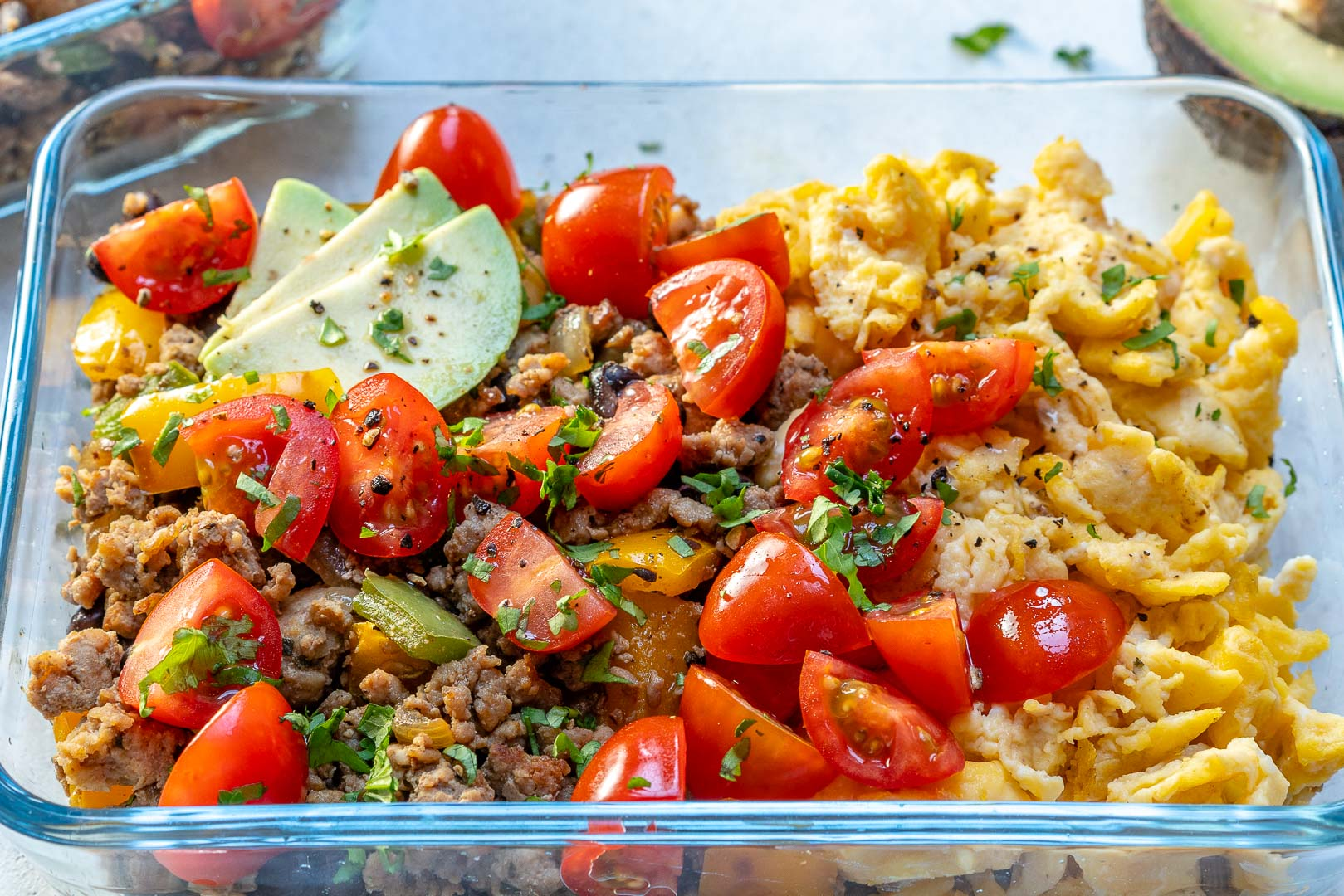 Taco Scramble Clean Breakfast Recipe