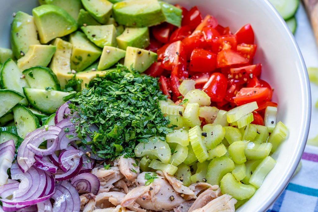 Avocado Chicken Chopped Salad