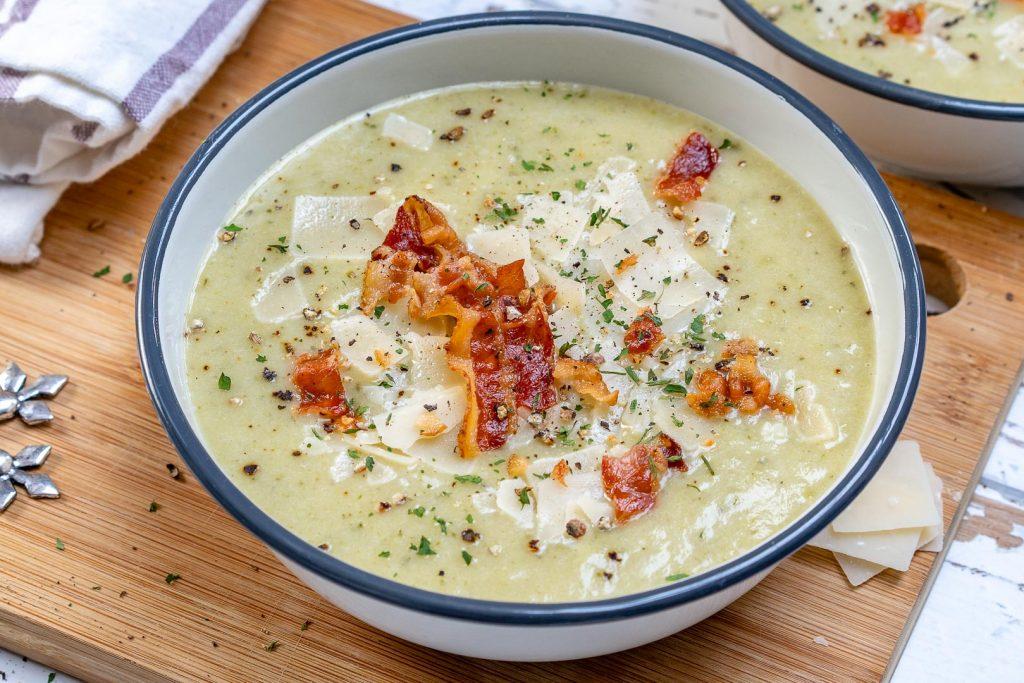 CleanFoodCrush Creamy Zucchini Potato Soup
