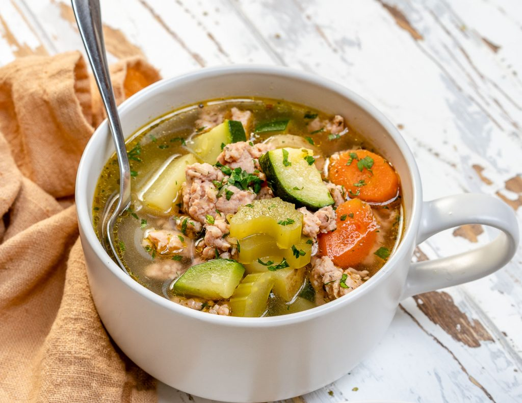 Hearty Italian Sausage Soup for Clean Eating