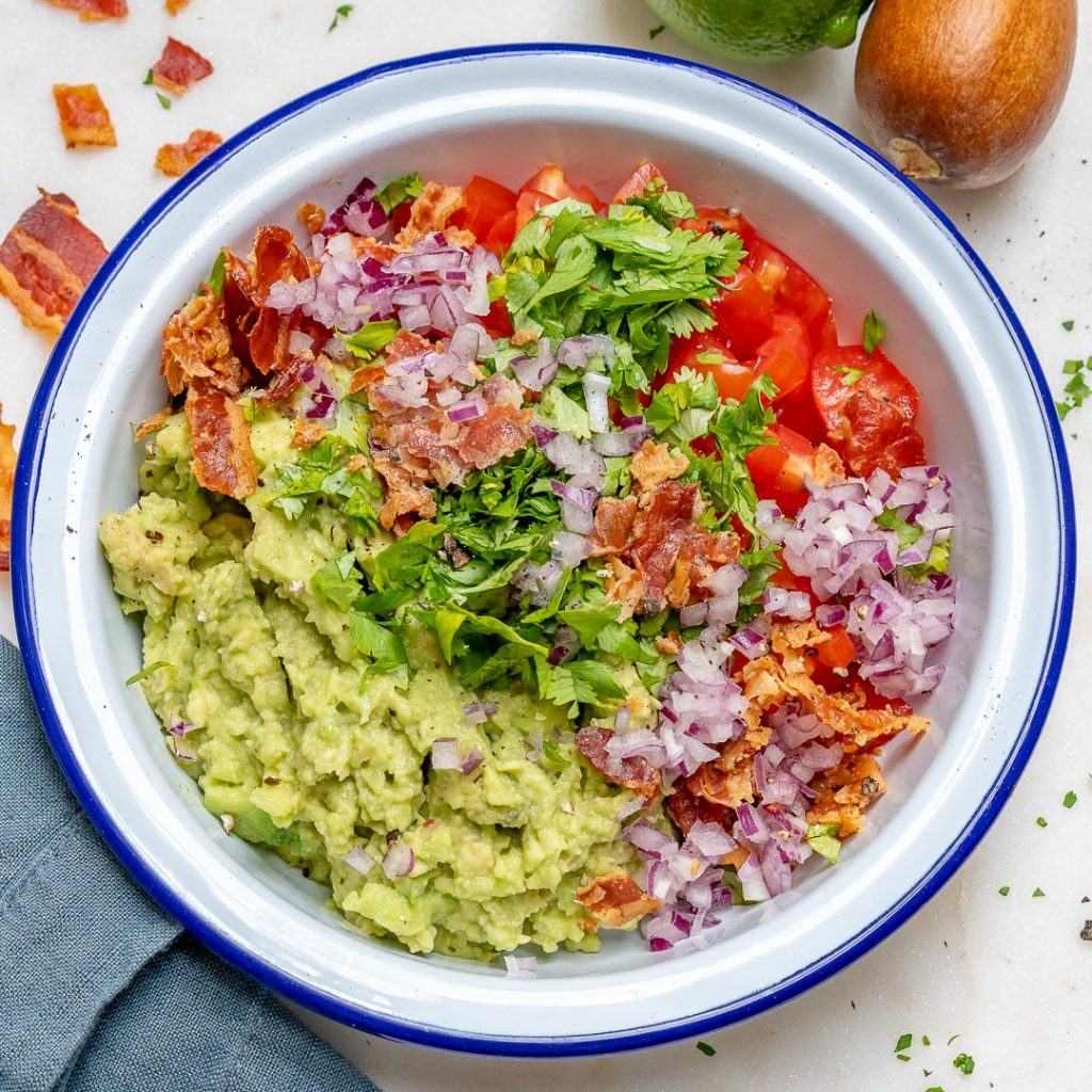 This Clean and Loaded Bacon Guacamole is Super Yummy!