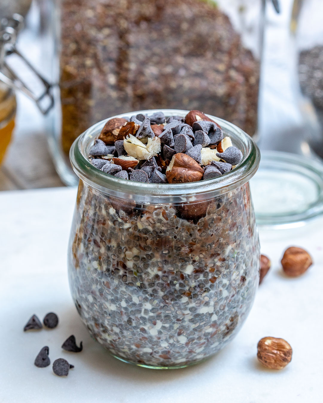 Chocolate Hazelnut Overnight No-Oats
