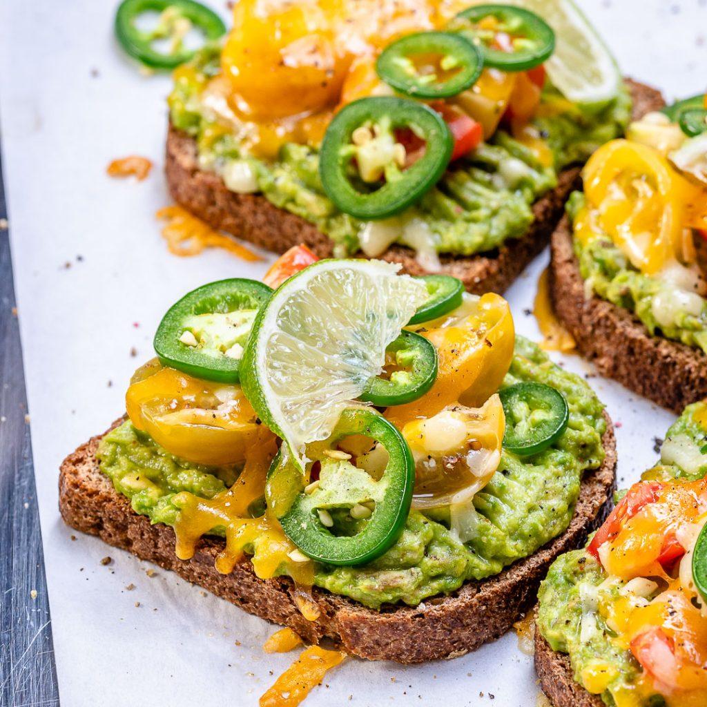 Cheesy Jalapeno Avocado Toast