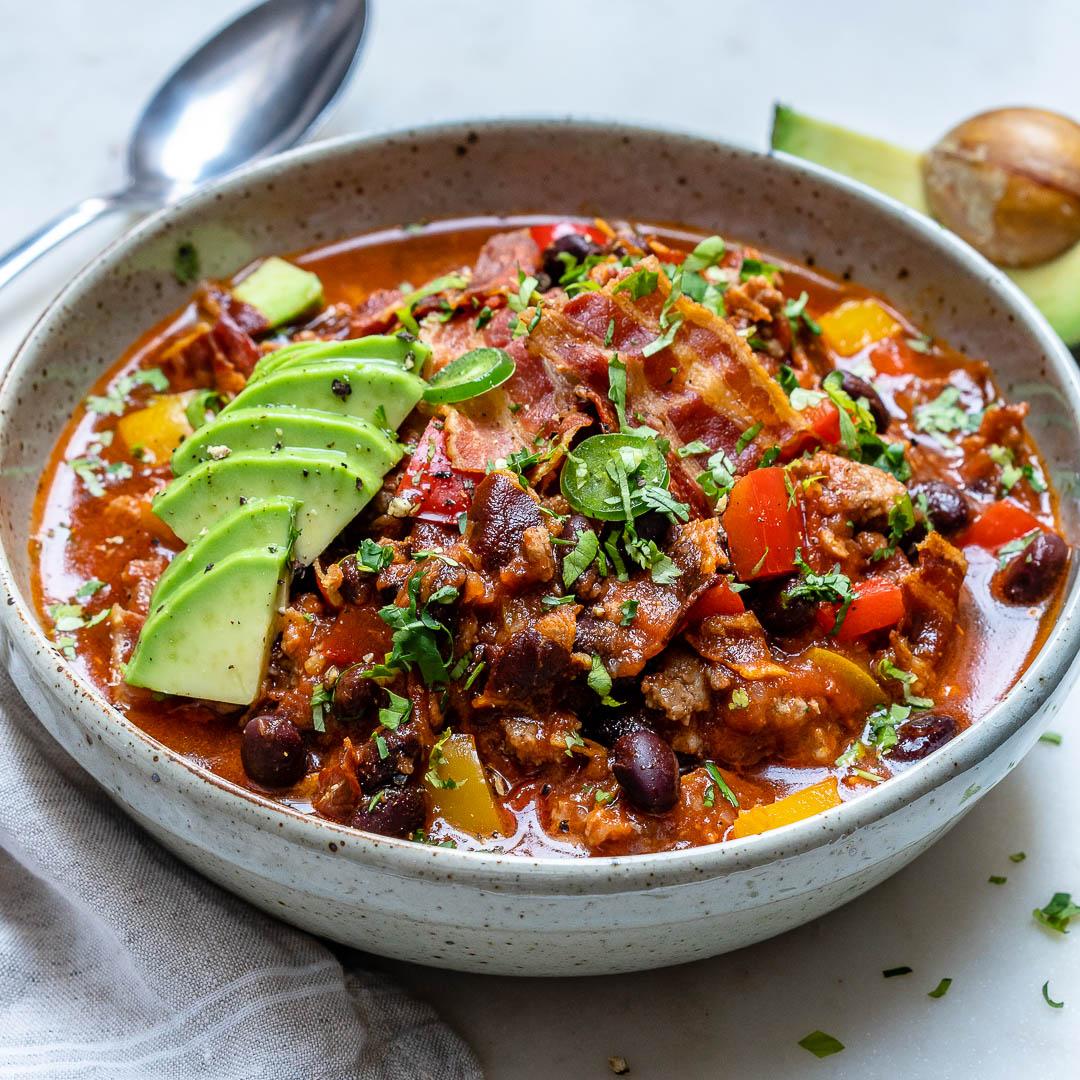 Crockpot Chili with Bacon