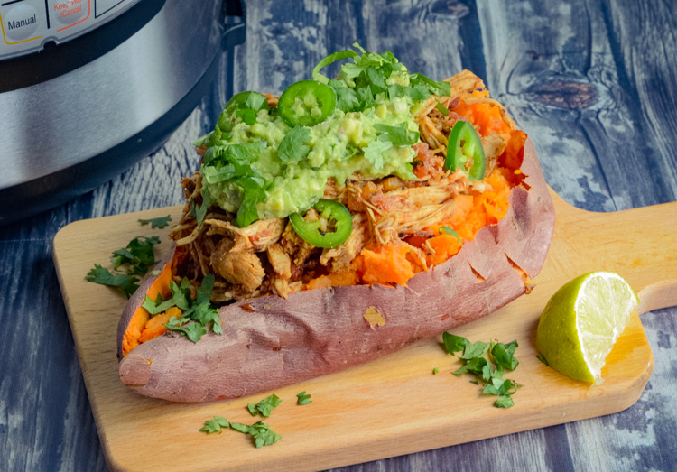 Instant Pot Mexican Chicken Sweet Potatoes