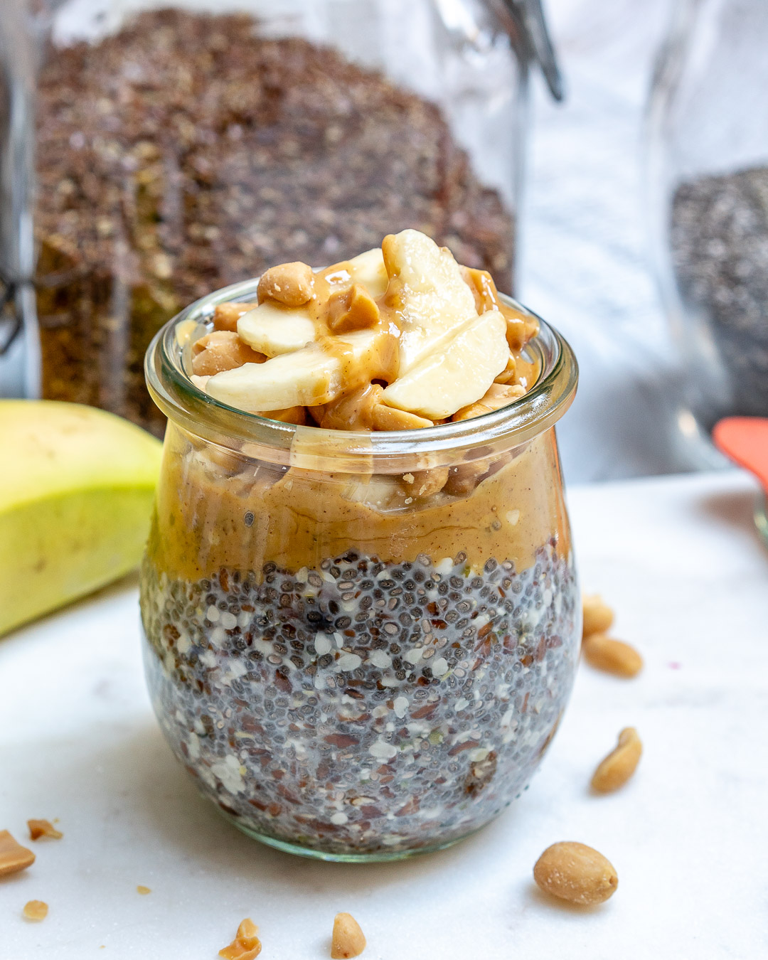 Peanut Butter Banana Overnight No-Oats