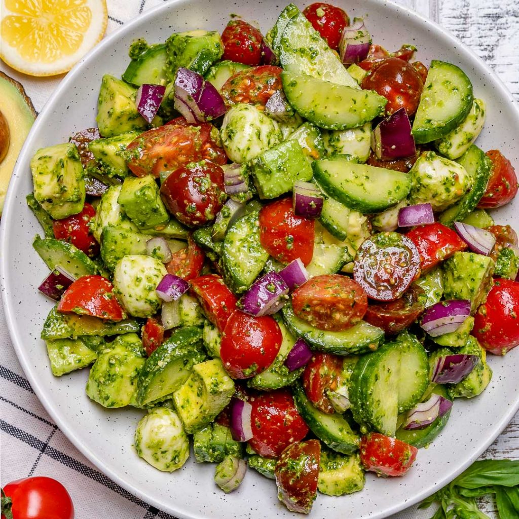 Eat Clean: Italian Style Tomato + Avocado Chopped Salad!